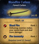 Bloodfire Cutlass