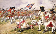 Battle of Ramillies, the 16th Foot charging the French Infantry