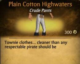Plain Cotton Highwaters