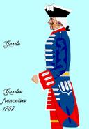 Gardes françaises 1757