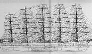 Preussen segelriss cross section 600