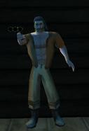 Edgar holding his Pistol