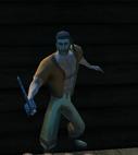 Edgar holding his Pirate Blade