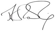 J.K Rowling' s Signiture