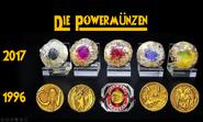Powermünzen im Vergleich klein