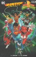 Justice League Power Rangers Cover