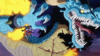 Oden Cuts Kaido (One Piece) - anime