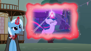Trixie showing a flashback of Twilight using her magic to defeat an Ursa Minor S3E05