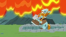 Rockhoof wielding his shovel S7E16.png