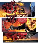 Ghost Rider wrecks Mephisto