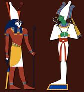 Depictions-of-Horus-left-and-Osiris-right