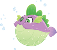 MLP The Movie Spike the Pufferfish official artwork