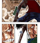 Luffy stands up