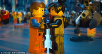Emmet and Lucy holding hands