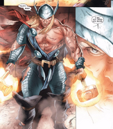 Thor with Mjolnir and Stormbreaker