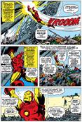 Iron Man lifts rocket