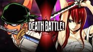 Zoro VS Erza (One Piece VS Fairy Tail) DEATH BATTLE!