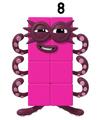 Numberblocks - Eight (Rectangular Form) (Official Artwork)