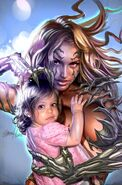 Sara and Hope Pezzini (Witchblade) embrace