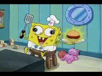 SpongeBob's first patty