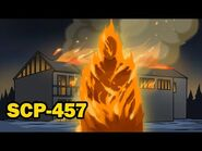 SCP-457 The Burning Man (SCP Animation)