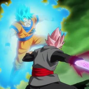 SSR Black Fierce Violent God Slicer vs SSB Goku.png