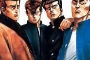 The 4 Heavenly Kings Rokudenashi BLUES