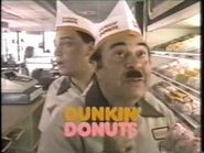 """1980's """"Fred the Baker"""" Dunkin' Donuts commercial-2"""