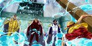 Luffy Confronts the Admirals (One Piece)