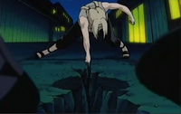 Tsunade cleaves the ground