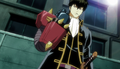 Hijikata with the Super-Electric Matsuibo RX