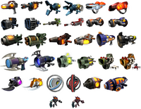 Ractchet and Clank Megacorp Weapons