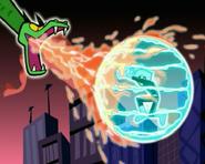 Danny's Ice Shield vs Hydra's Fire Breath