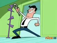 Timmy's Dad wielding a monkey wrench