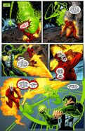 Energy Constructs by Green Lantern and Effigy