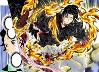 Yoriichi almost kill Muzan