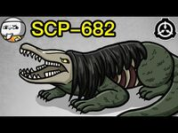 SCP-682 Indestructible Creature (SCP Animated)