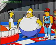 Homer using his power in the game