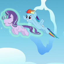 Starlight and Rainbow Dash fly together S5E26.png