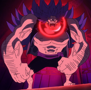 Breed 's appearance after using his powers on himself