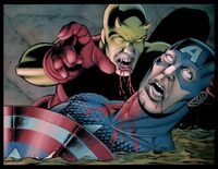 Raymond Connor bites Captain America