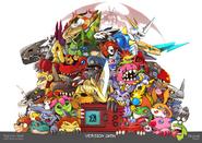 Digimon vpet 20th anniversary by Sinobali