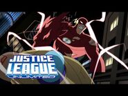 Flash uses The Speed Force and shows his true power to Brainiac - Luthor - Justice League Unlimited