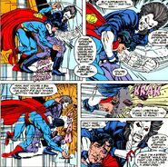 Superman's Beating by Lobo