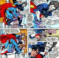 Superman's Beating by Lobo