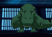 Beast Boy as a t rex