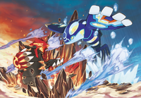 Primal Groudon and Primal Kyogre artwork