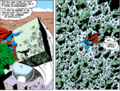 Superman v. A Giant Rock.