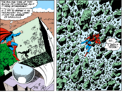 Superman v. A Giant Rock.