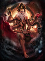 Brahma god of creation by molee